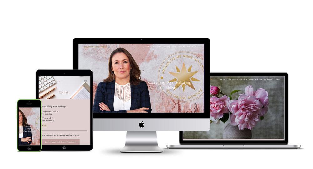 webdesign og online identitet for Proudlife