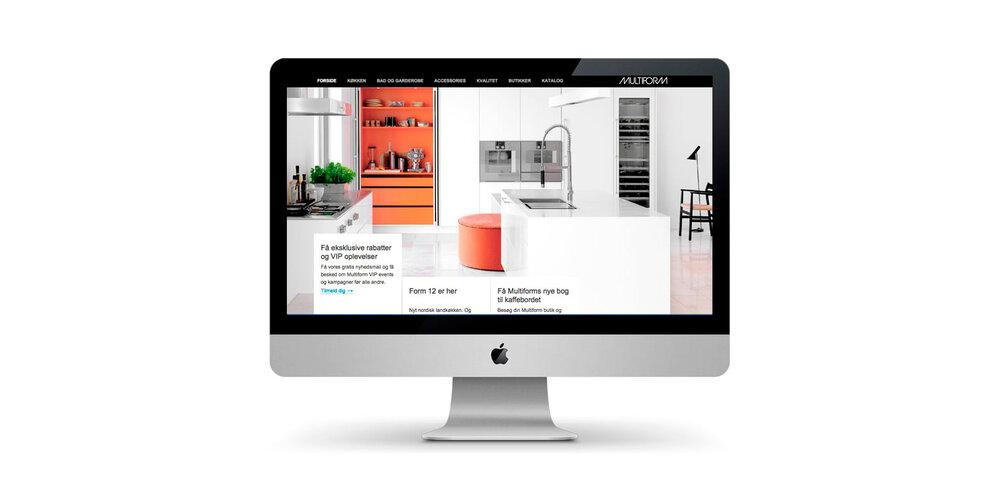 Webredigering samt photoshoot og styling for Multiform