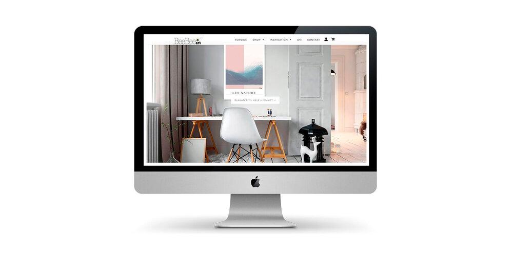 Webdesign og webshop for BeeBee Art