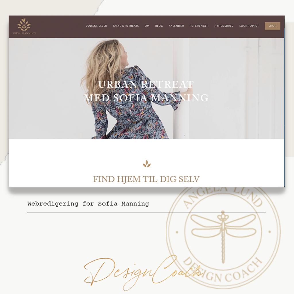 Webdesign og digitale ydelser. Eksempel udarbejdet for Sofia Manning