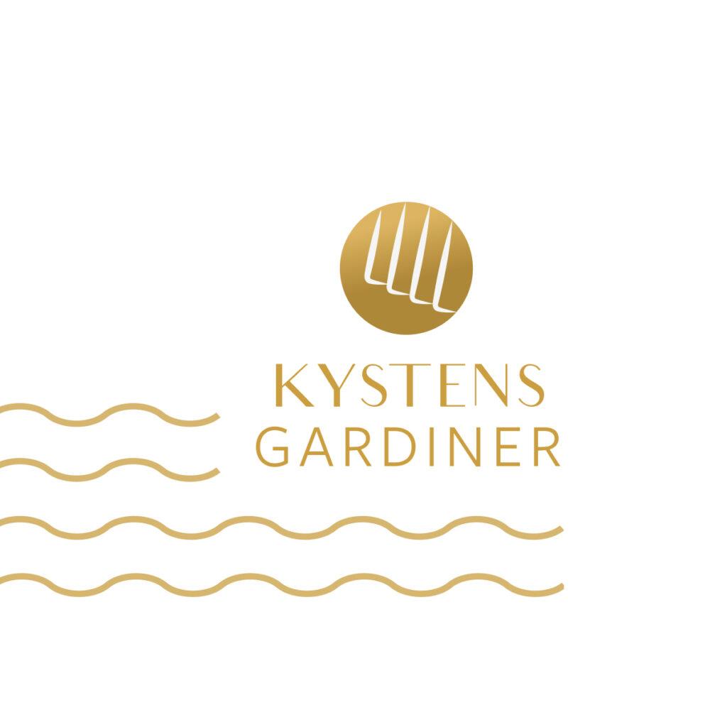 Logo og grafik -brand identitet for Kystens Gardiner