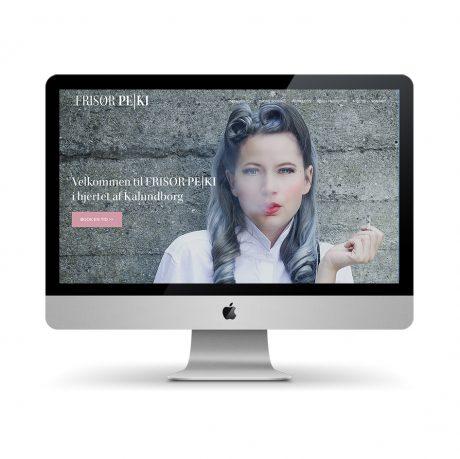 Webdesign for Frisør Peki