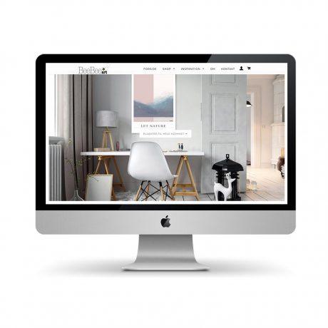 Webshop design for BeeBeeart