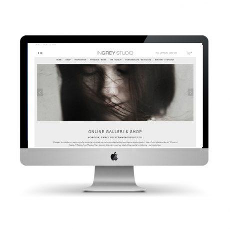 Webdesign for Ingrey Studio