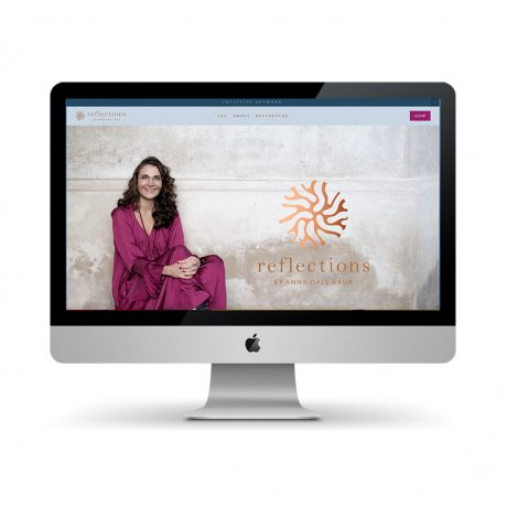 Webdesign for Reflections by Anna